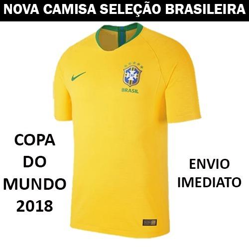 29219c1a11 Nova Camisa Seleção Brasileira Oficial Copa 2018 Promoção - R  90