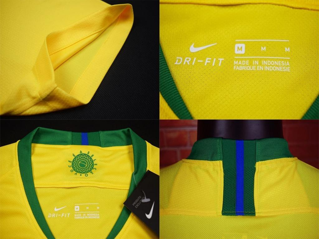 Nova Camisa Seleção Do Brasil Azul Amarela Verde Copa 2018 - R  160 ... 5e7feba7383c9