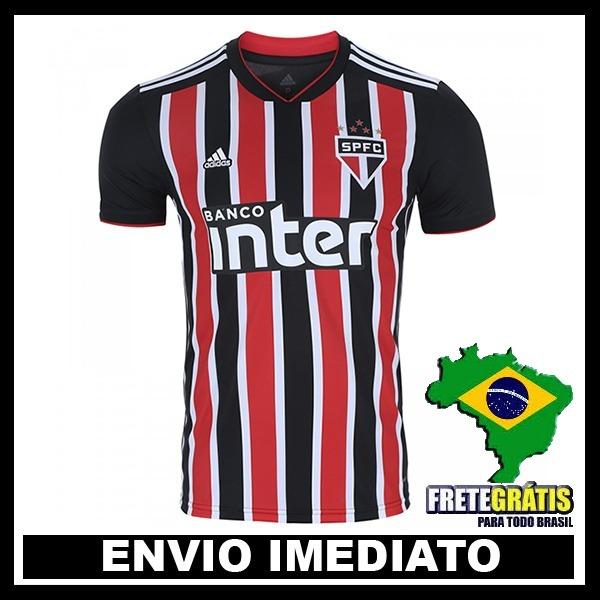 Nova Camisa São Paulo Tricolor 2018 Original - Frete Gratis - R  129 ... 6ad43fd526945