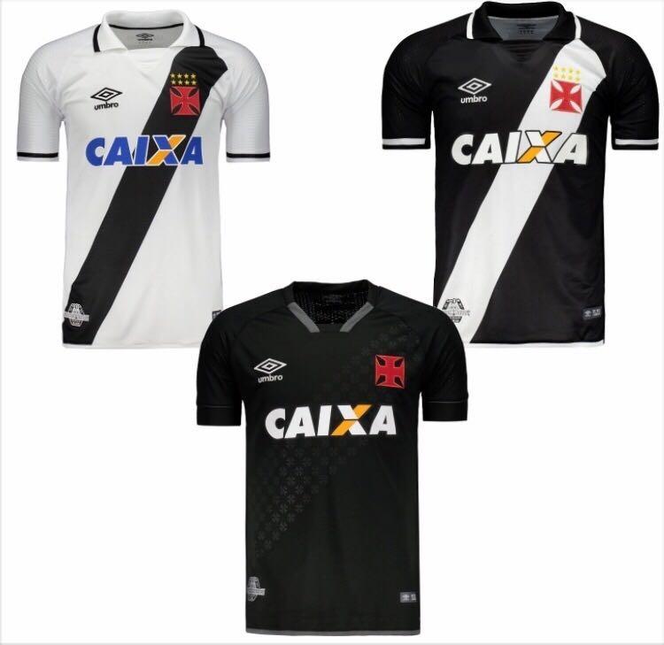 6147e4aafd Nova Camisa Umbro Vasco Oficial - Kit 3 Unids - Frete Grátis - R ...