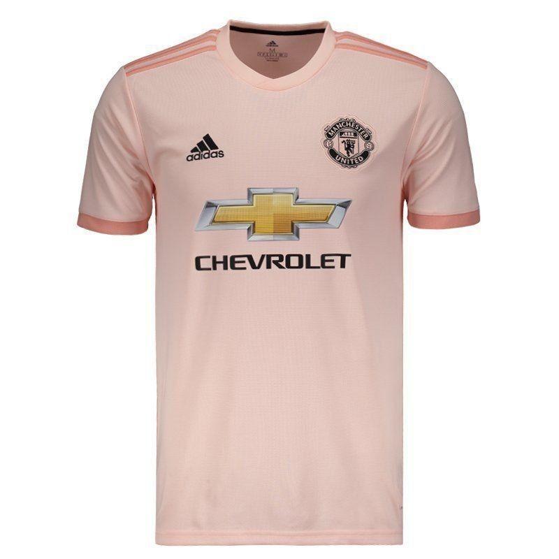c180211e2b3ae Nova Camiseta adidas Do Manchester United Rosa - 2018 / 2019 - R$ 85 ...