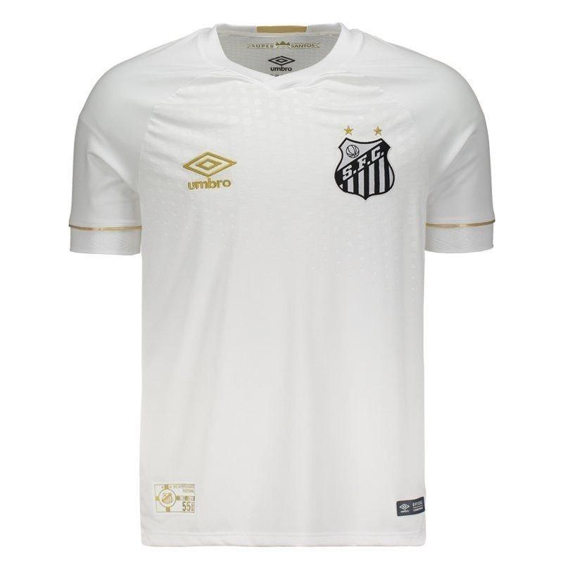 nova camiseta branca da umbro santos f.c modelo 2018   2019. Carregando zoom . 4cf0176dacd6f