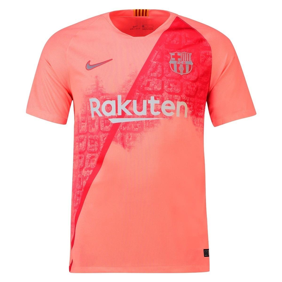 nova camiseta do barcelona - nike - rosa - modelo 2018  2019. Carregando  zoom. 5b64f19a72f33