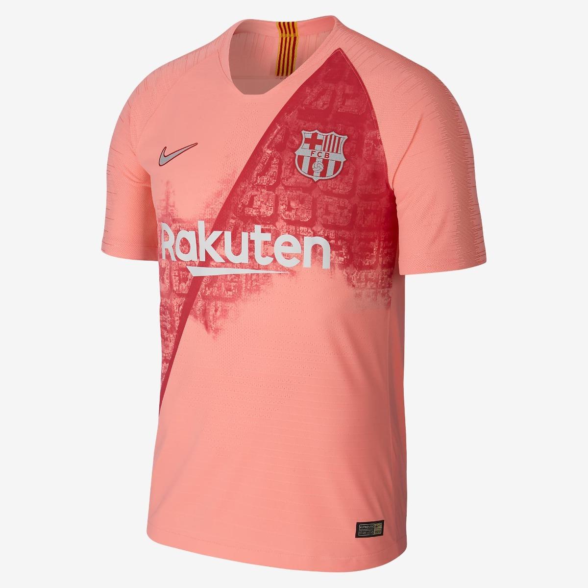 16df1e68fb nova camiseta do barcelona - nike - rosa - modelo 2018 /2019. Carregando  zoom.