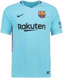 Nova Camiseta Do Barcelona - Rakuten - Azul - Modelo 2016 17 - R  99 ... ec5c21cada641