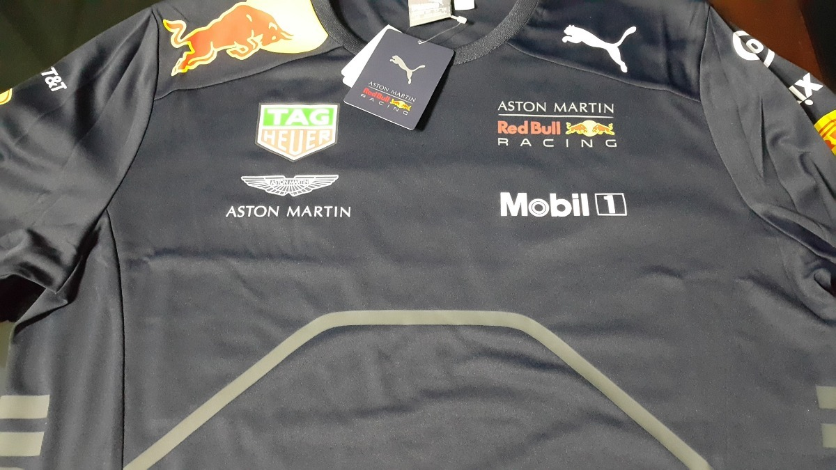 nova camiseta funcional aston martin red bull racing f1 2018. Carregando  zoom. 5b844f4b7979a
