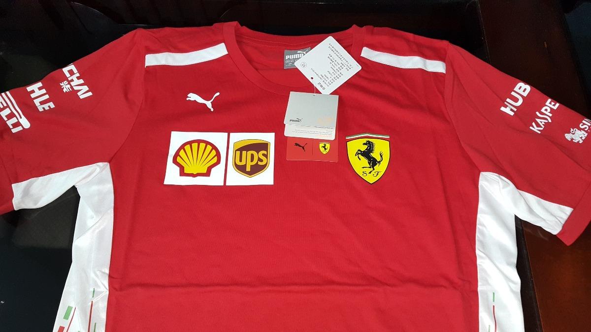 db1bbb7ea2 Nova Camiseta Funcional Scuderia Ferrari F1 Team 2018 Em Sp - R  298 ...