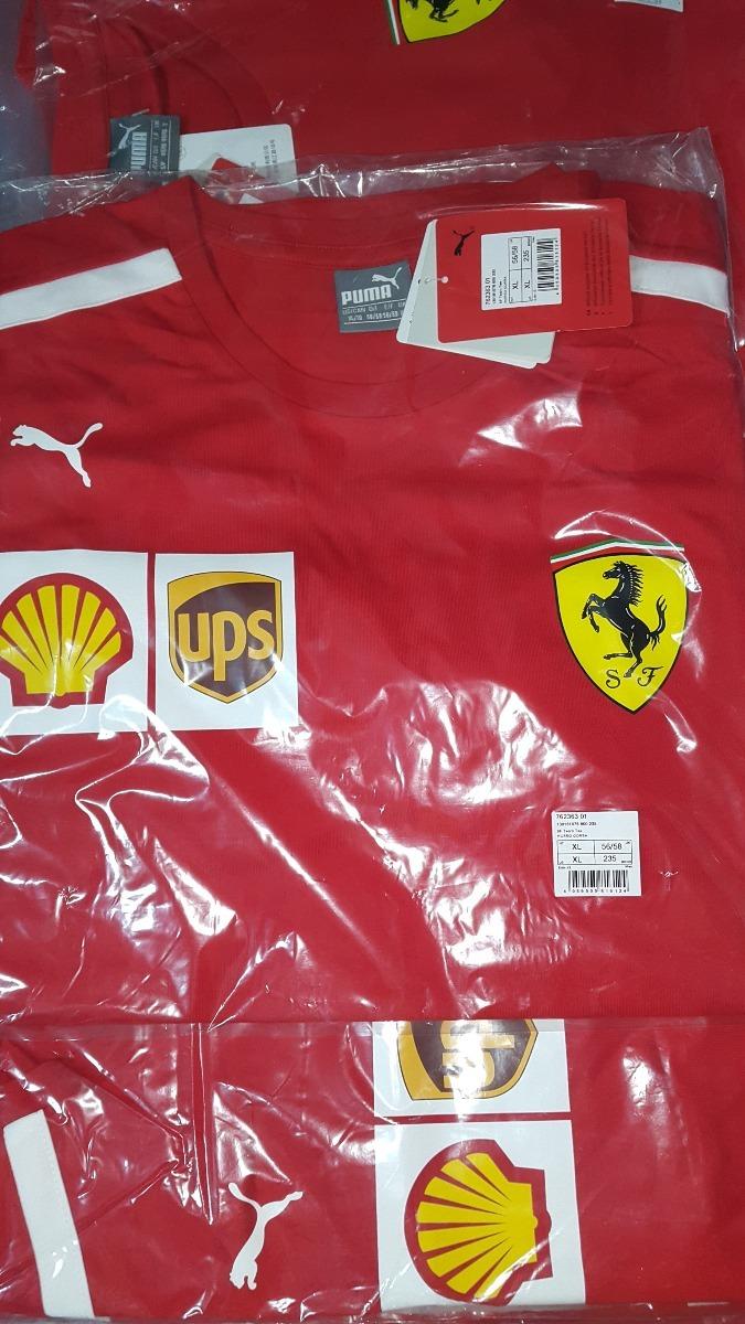 Nova Camiseta Funcional Scuderia Ferrari F1 Team 2018 Em Sp - R  298 ... aa349b1014f