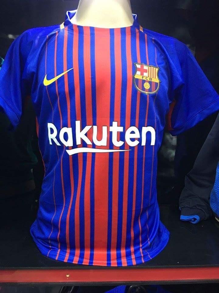 nova camiseta listrada do barcelona rakuten - modelo 2017 18. Carregando  zoom. 9e72467d43c3e