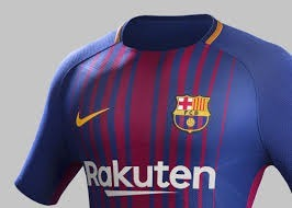 0f22d095b0 Nova Camiseta Listrada Do Barcelona Rakuten - Modelo 2017/18 - R$ 85 ...