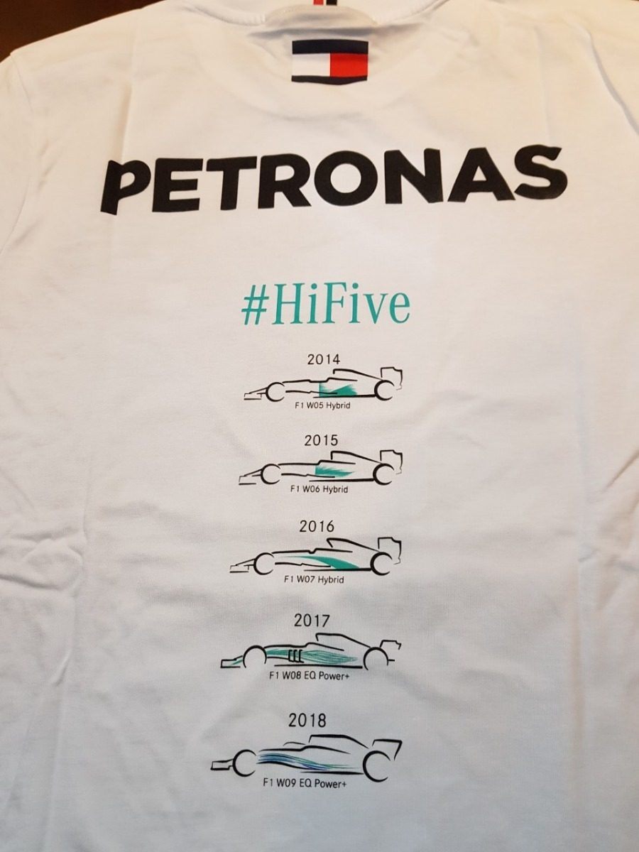 nova camiseta mercedes amg petronas f1 ed comemorativa 2018. Carregando  zoom. c3fcaec0a3d7b