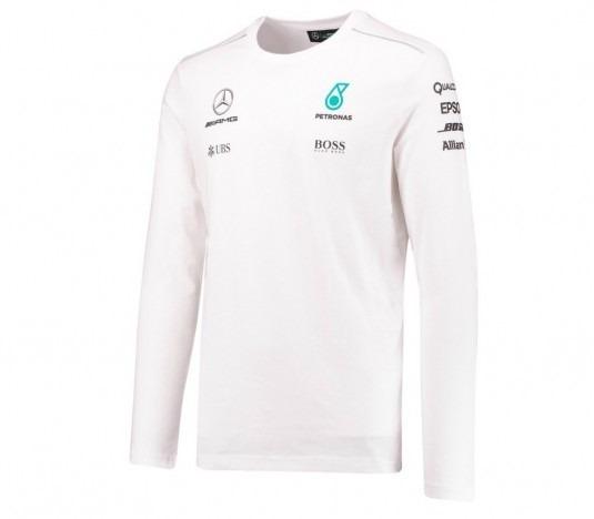 0976b6e841 Nova Camiseta Mercedes Petronas F1 Manga Longa 2017 Branca - R$ 299,99 em  Mercado Livre