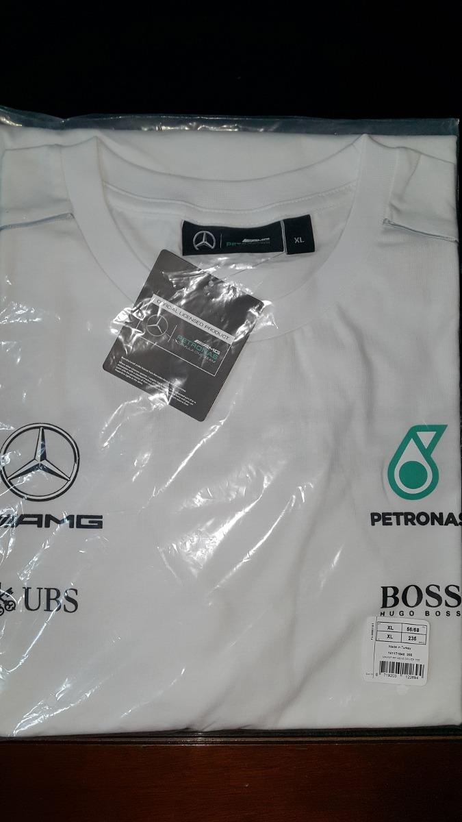 7411ce03a8 nova camiseta mercedes petronas f1 manga longa 2017 branca. Carregando zoom.