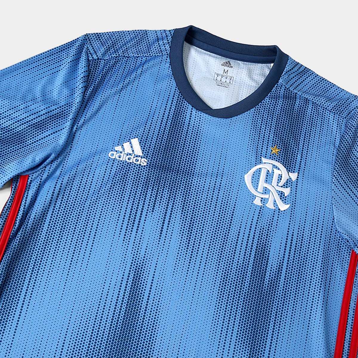 nova camiseta oficial flamengo 2018 19 azul super promoç. Carregando zoom. adf9ba247bacc