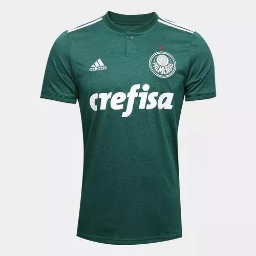 Nova Camiseta Oficial Palmeiras 2018 19 Lançamento Verde - R  99 65baa39eaf507