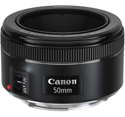nova canon 50mm f1.8 stm ideal p/ filmagens