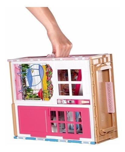 nova casa da barbie c/4 comodos e boneca dvv48 bonellihq l18