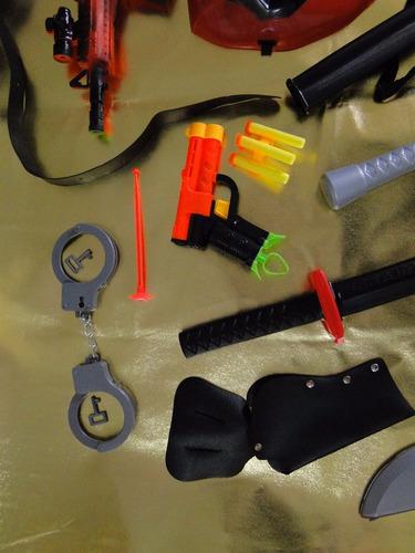 nova fantasia deadpool mascara pistola nerf metralha dardos