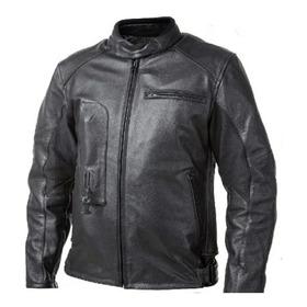 Nova Jaqueta Moto Air Bag Helite Couro Preta Motociclista Gg