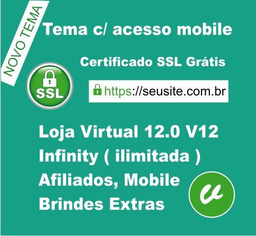 nova loja virtual 12.0 mobile 2018+ ssl e hospedagem