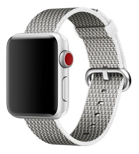 nova pulseira de nylon para apple watch 38/40mm - branca
