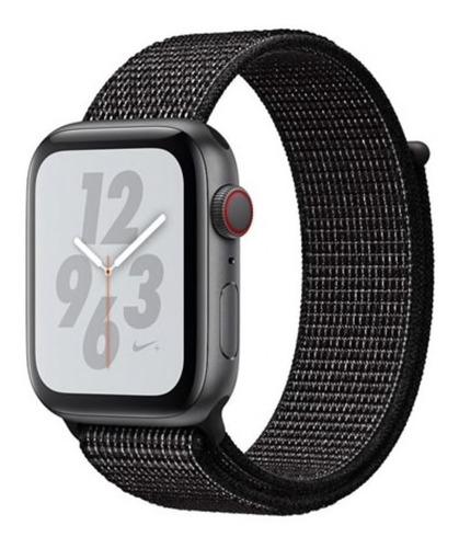 nova pulseira nylon sport loop p/ apple watch 42/44mm -preta