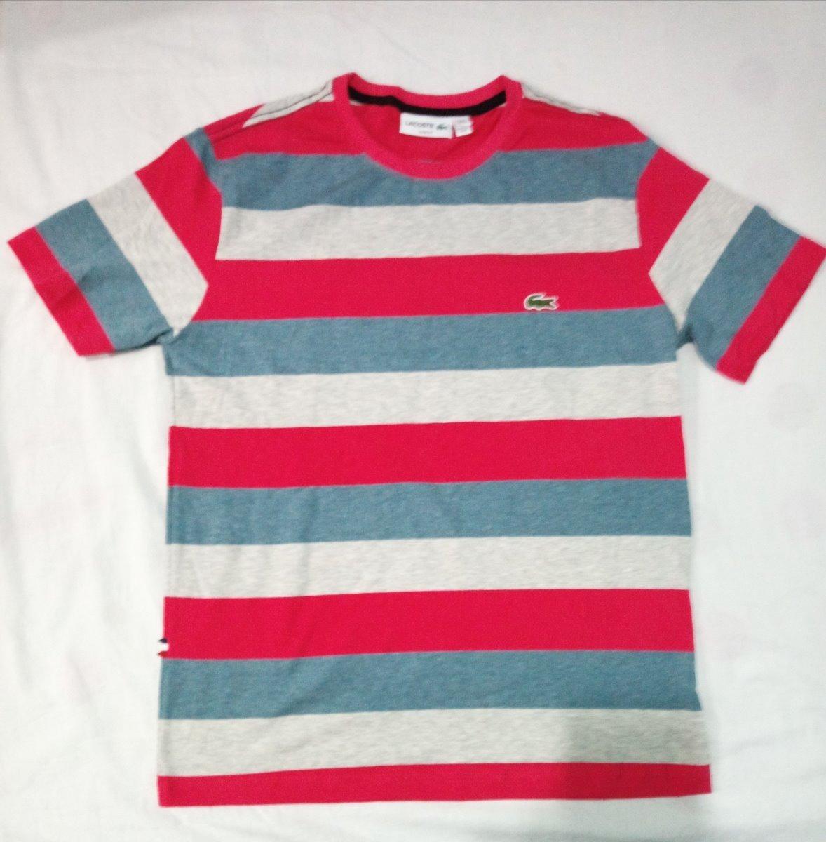 f82e280fe3ade Novas Camisa Lacoste Listrada Live Oakley Masculina - R  120,00 em ...