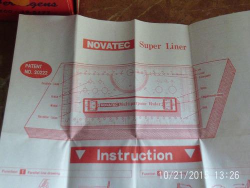 novatec mutipurpose ruler para desegno grafico