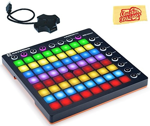 novation launchpad grid controller bundle with usb hub and a