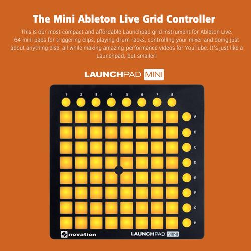 novation launchpad mini controlador de batería midi usb