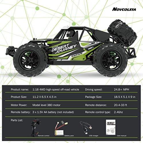 novcolxya model carro rc escala 1/18 camioneta 30 mph alta v