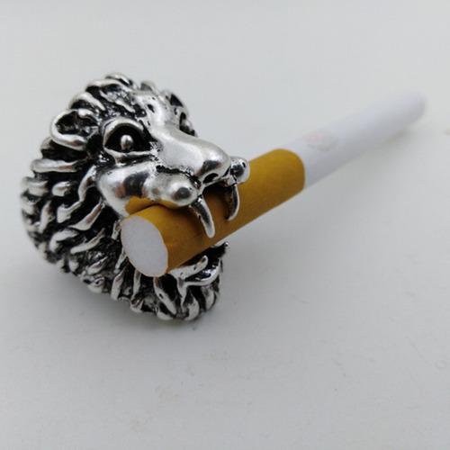 novedad león estilo a fumar cigarrillo estante tabaco