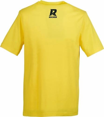 novedad remera rocker kayak wave amarillo talle s-m-l-xl-xxl