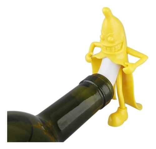 novedad tapn de botella de vino tinto cerveza de pltano