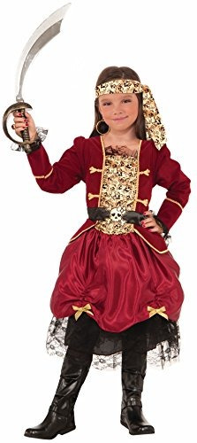 novedades del foro girls pirateer costume, red, large