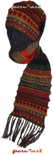 novedosa chalina gorro en alpaca-  artesania regalos
