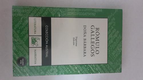 novela doña barbara romulo gallegos