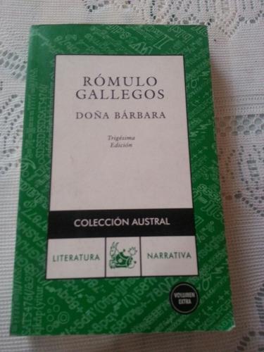 novela doña barbara ,romulo gallegos
