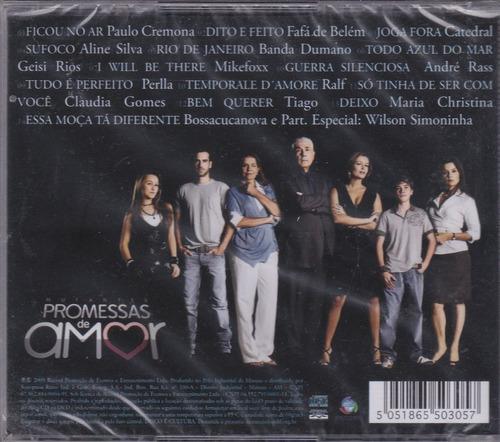novela mutantes - cd promessas de amor - lacrado de fábrica