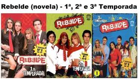 Novela Rebelde 1ª 2ª E 3ª Temporada Oficial - 18 Dvds