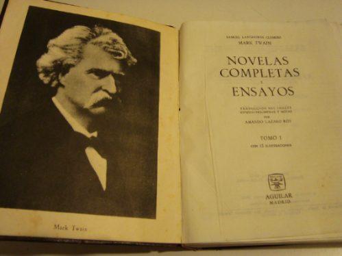 novelas completas y ensayos de samuel langhorne clemens