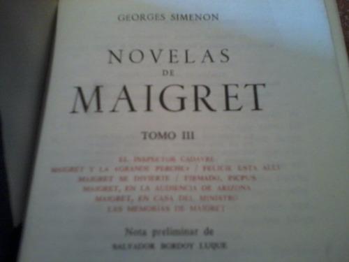 novelas de maigret - t. 3 - g. simenon - aguilar - bueno