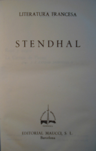 novelas de stendhal - rojo y negro - la cartuja de palma