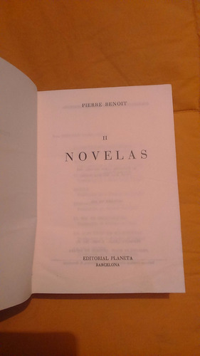 novelas (tomo 2)  - pierre benoit