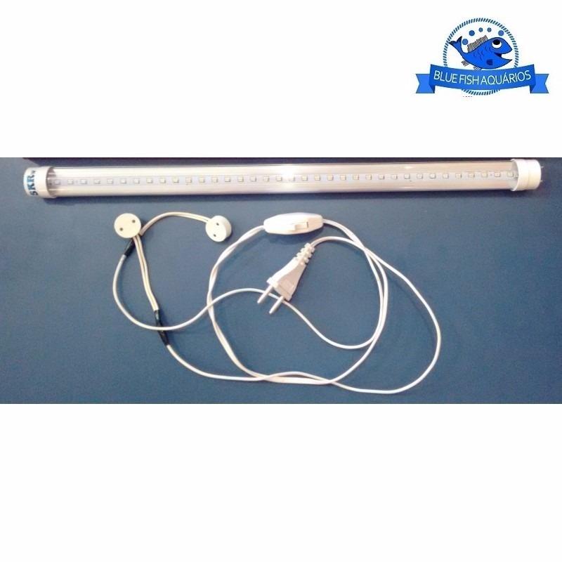 novidade!!! lampada led skrw t8 14w 90cm azul/branca bivolt - r$ 99
