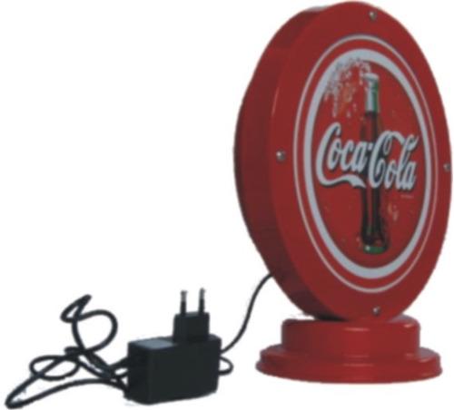 novidade luminoso em led coca cola luminária vintage abajur