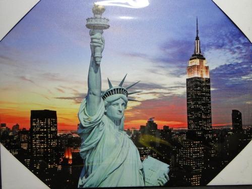 novidade !!!!!!!!!!!  quadro  new  york   estatua  liberdade