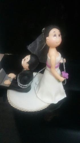 novios de cerámica en frio para tortas