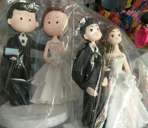 novios en  porcelana fria (accesorio para torta)