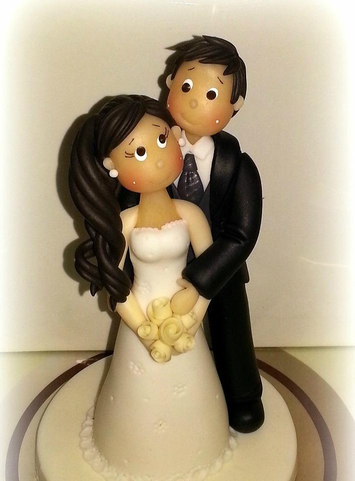novios figuras pastel boda, cake toppers personalizado 17 cm
